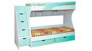 Детская двухъярусная кровать с комодом-ступенями